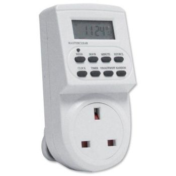 Electronic digital mains Timer Socket Plug-in with LCD Display 12/24 Hour 7 Days - A