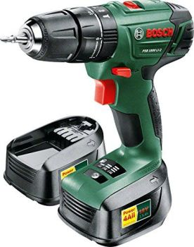 Bosch PSB 1800 LI-2 Cordless Lithium-Ion Hammer Drill Driver with Two 18 V Batteries - A