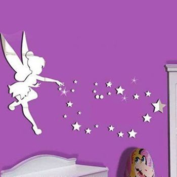 "Walplus Mirror Wall Art ""Little Girl"" Wall Stickers - A"