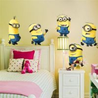 5 Minions Despicable Me Removable Wall Stickers - A