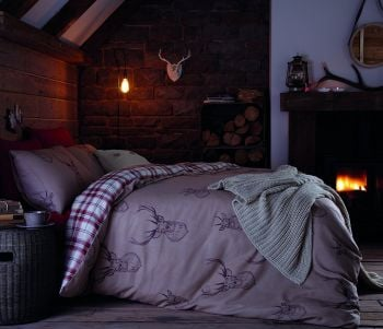 Catherine Lansfield Stag Duvet Set - Multi - A