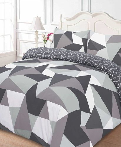 Dreamscene Shapes Duvet Cover with Pillow Case Bedding Set, Polyester-Cotto