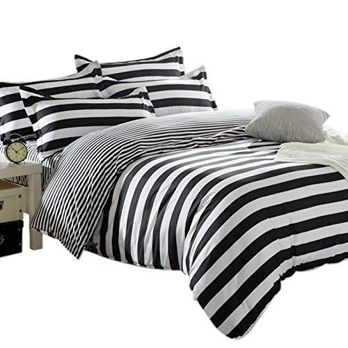 Zebra Black and White Stripe Reversible Duvet Covers Quilt Covers Bedding S