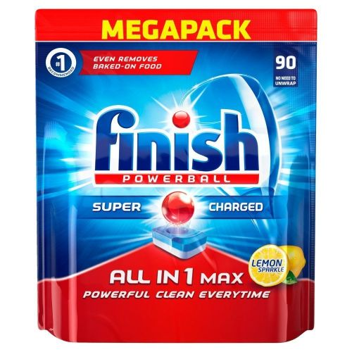 Finish All-in-1 Max Lemon Dishwasher Tablets (Pack of 90) - A