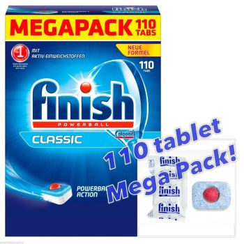 FINISH POWERBALL CLASSIC DISHWASHER TABLETS - MASSIVE 110 TABLET MEGA PACK! - AB