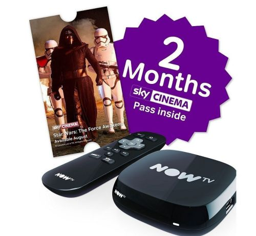 NOW TV Box with 2 Month Sky Cinema Pass  (Value £19.98)- A
