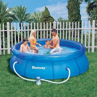 BestWay Fast Set Swimming Pool Round Inflatable Above Ground 8ft x 26inch -