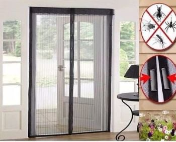 Magnetic Fastening Magic Curtain Hands Free Fly Bug Insect Screen Door Mesh - AB