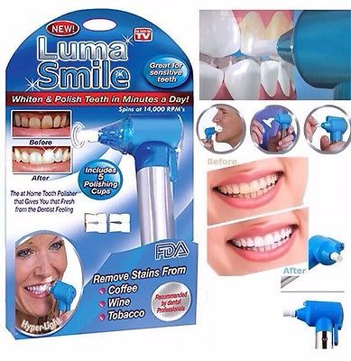 Dental Luma Smile Teeth Whitening & Polish Machine With 5 Polishing Cups -