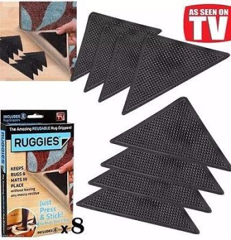 4 PACK RUGGIES RUG CARPET MAT GRIPPERS