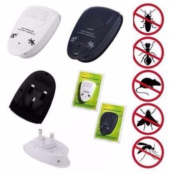 4 X Ultra Sonic Plug In Mice Mouse Rodent Spider Ant Repeller Pest Control - AB