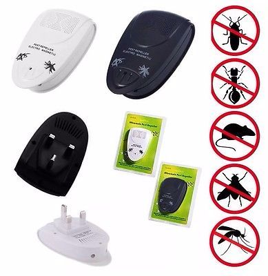 4 X Ultra Sonic Plug In Mice Mouse Rodent Spider Ant Repeller Pest Control