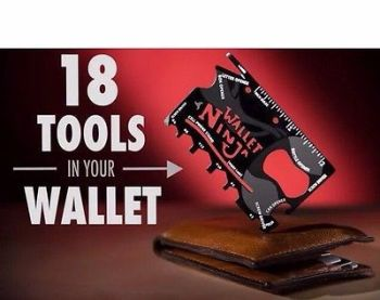 Wallet Ninja 18 in 1 Credit Card Pocket Multi Tool Gadget - AB