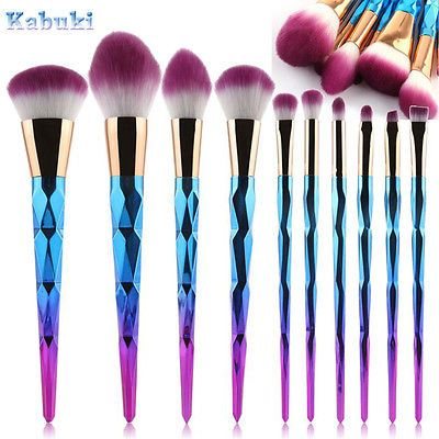 7 x Multi Make up Brush Cream Foundation Powder Contour Cosmetic Kabuki Too