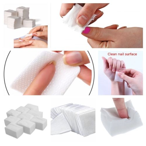 900 Pcs LINT NAIL WIPES PADS ART GEL ACRYLIC POLISH REMOVER PEDICURE MANICU