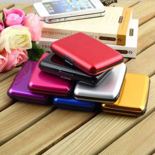 ID Credit Card Wallet Holder Aluminum Metal Pocket Case