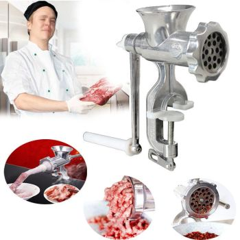 HAND HELD MANUAL MINCER MEAT KITCHEN BEEF GRINDER SAUSAGE PASTA KITCHEN TRAY