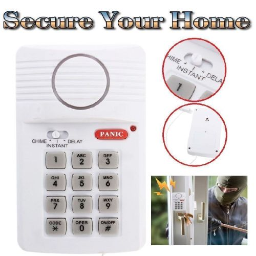 Wireless Door Alarm With Security Keypad And Panic Alarm