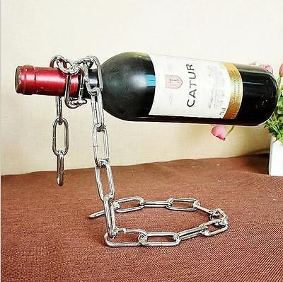 Magic Illusion Floating Wine Bottle Holder Chain