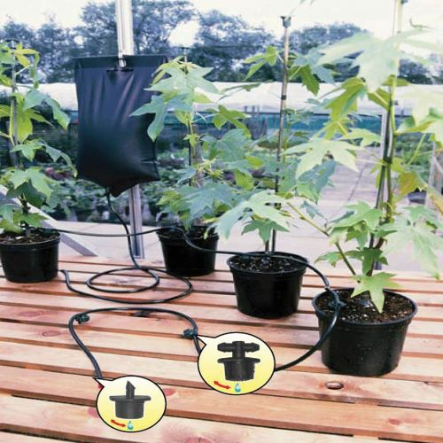 Instant Drip Watering Gravity Fed Irrigation Plants Greenhouse System Water