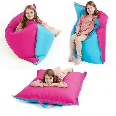 Pink Blue Bean Bag Slab Large Children's Kids Beanbag Cushion Splashproof S