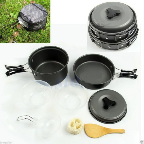 8pcs Outdoor Camping Hiking Cookware Non-stick