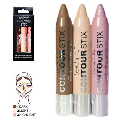 Technic Contour Stix Cream Contouring Set Kit Sticks Crayons Bronzer Highli