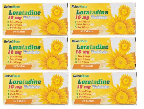 6 Months Supply Of Loratadine Hayfever and Allergy Relief 10mg