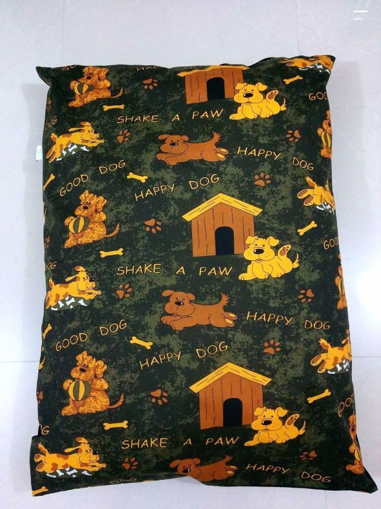 DOG BED REMOVABLE ZIPPED COVER LARGE - HAPPY DOG