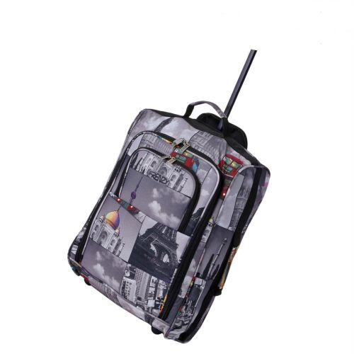 Wheeled Ryanair Cabin Bag Flight Hand Luggage Travel Trolley Suitcase Monu