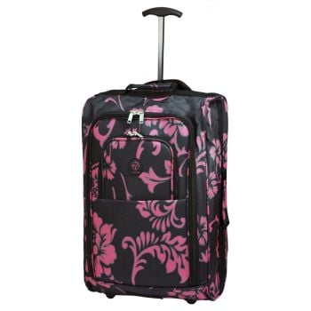 Wheeled Ryanair Cabin Flight Hand Luggage Travel Trolley Suitcase Pink Orchid