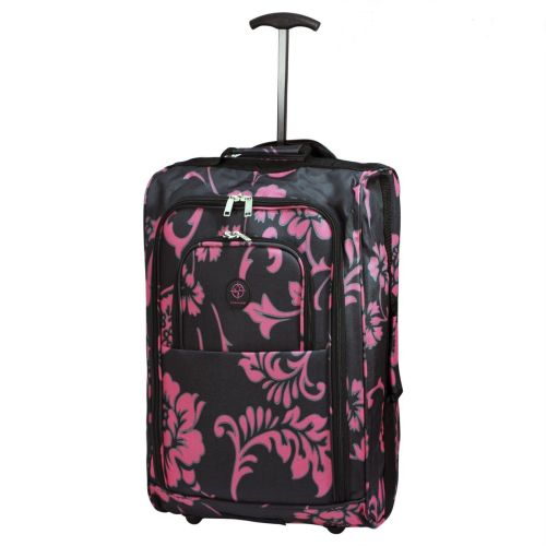 Wheeled Ryanair Cabin Flight Hand Luggage Travel Trolley Suitcase Pink Orc