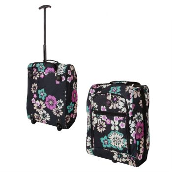 Wheeled Ryanair Cabin Bag Flight Hand Luggage Travel Trolley Suitcase Bouquet