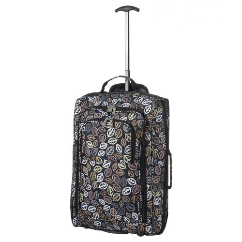 Wheeled Ryanair Cabin Bag Hand Luggage Travel Trolley Suitcase Brown Leave