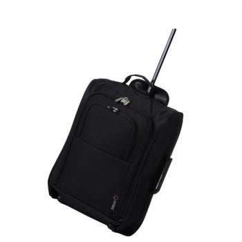 Wheeled Ryanair Cabin Bag Flight Hand Luggage Travel Trolley Suitcase Black