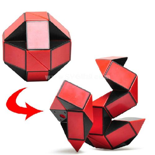 24 Parts Foldable Color Magic Snake Cube Stress Relief