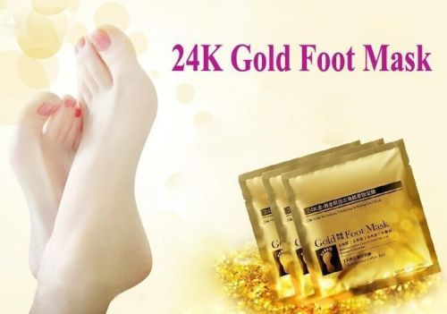 24K Gold Revitalizing Exfoliating Peel Foot Mask Remove Callus Dead Skin