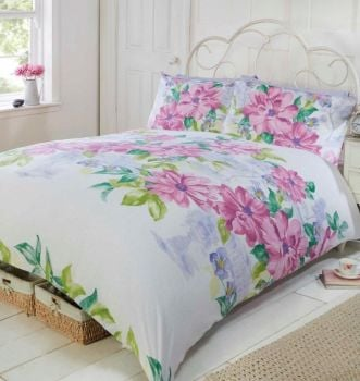 Duvet Cover with Pillow Case Quilt Cover Bedding Set - Botanical Pink