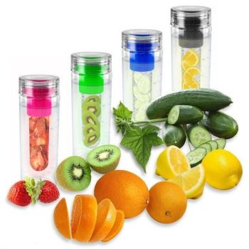 Fruit Infusing Water Bottle Infuse Infuser Hydration Aqua Sports Gym Healthy Lid