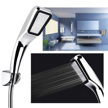 ABS Chrome Super Low Water Pressure Boosting Shower Head With Pinhole Jets As Seen On TV
