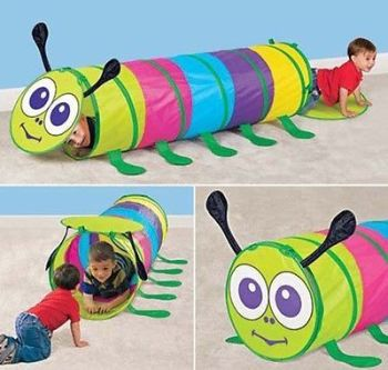 CHILDRENS KIDS CHAMELEON CATERPILLAR PLAY TENT TUNNEL GARDEN INDOOR OUTDOOR FUN