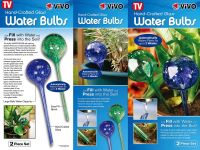 2 Self Watering Plant Bulbs Glass Water Globes Indoor Outdoor Automatic