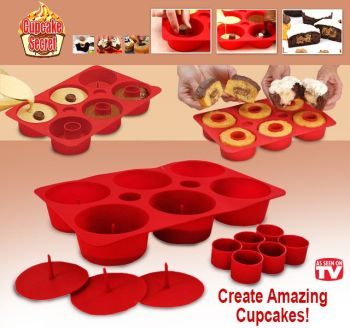 6 Filled Cupcake Maker Silicone Tray - As Seen On TV