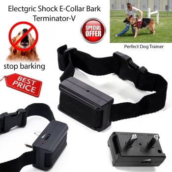 Electric Shock Anti Bark Dog Collar Stop Barking Pet Training Control Aid