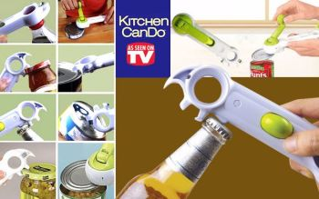 Multi Function New One Touch Kitchen CanDo 7 in 1 Function Bottle+Can+Jar Opener