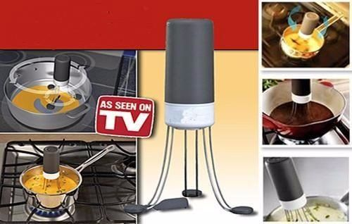 auto stirrer stir utensil automatic hands free robo food sauce blender kitchen. Black Bedroom Furniture Sets. Home Design Ideas