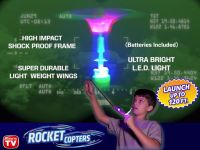 Rocket Copters - Slingshot LED Helicopters As Seen on TV  - 6 Pack