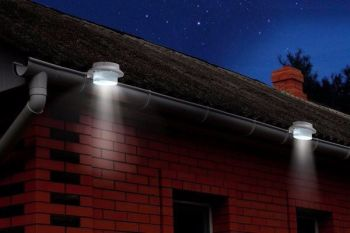 8 X 3LED SOLAR POWERED GUTTER GARDEN LIGHTS