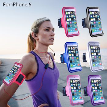 Sports Running Jogging Gym Armband Arm Band Case - Red