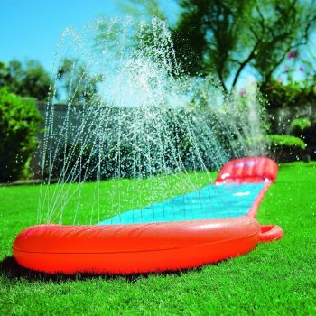 Children Kids 5.5 m H2O Go Single Slider Water Slide Orange & Blue